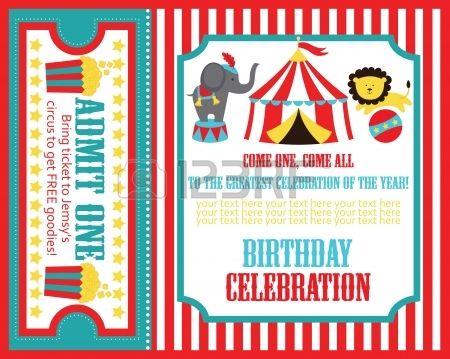 más de 25 ideas increíbles sobre invitaciones de circo en