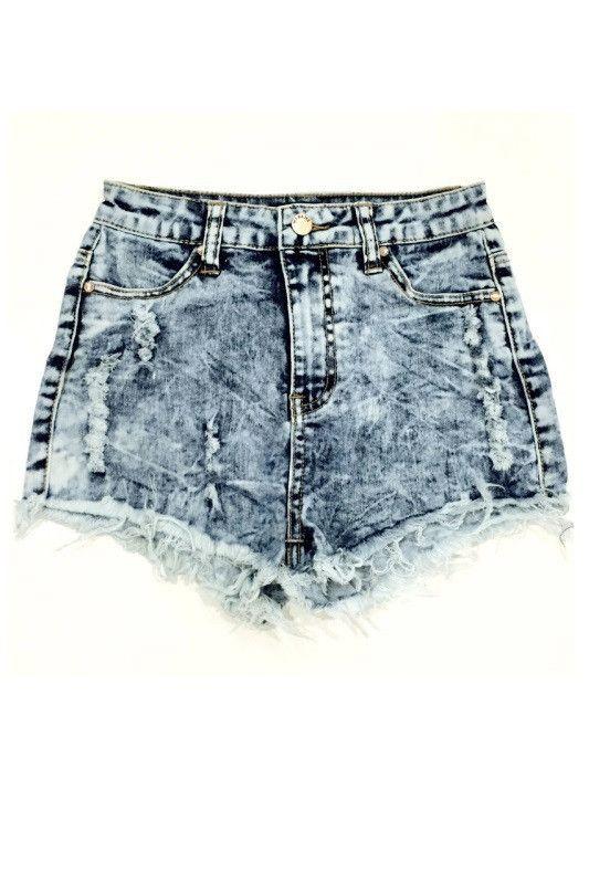 Jeannine High Waisted Shorts - Medium Acid Wash