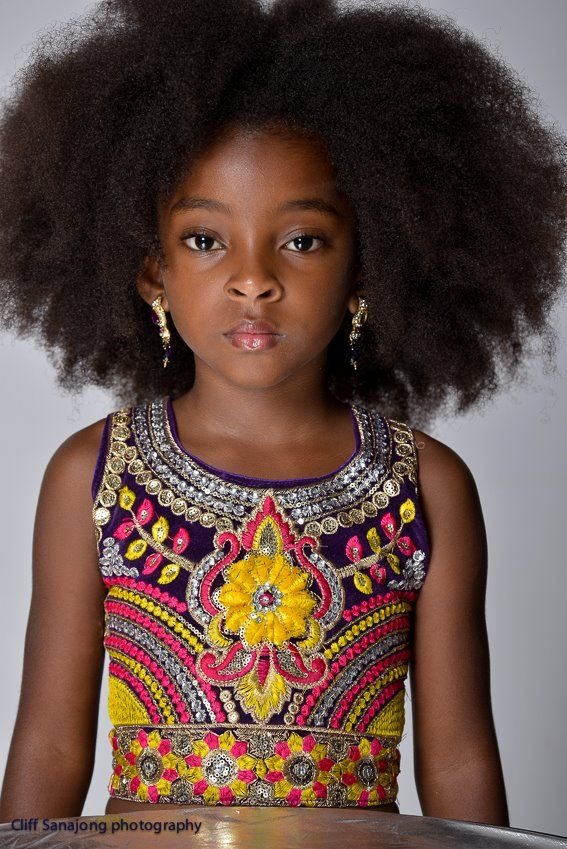 Photo by Cliff Sanajong || little black girls with long afro hair. children with big afros. natural kids. afro kids. kids with long afro hair.