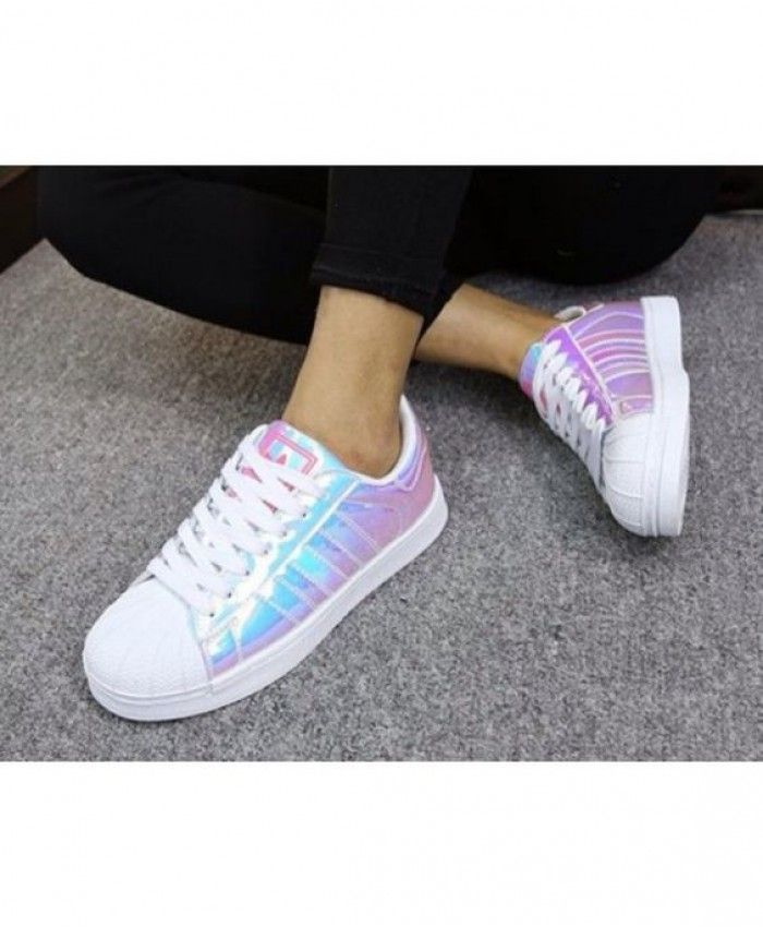 Adidas Superstar White Classic Holographic Sale | shoes