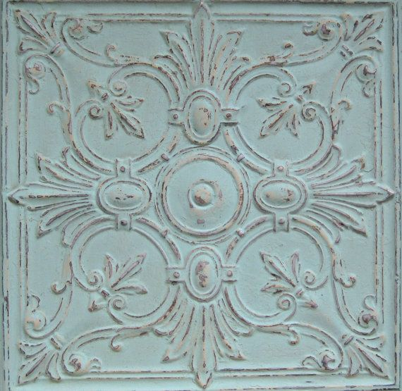 2'x2' Antique Tin Ceiling Tile. Circa 1900. by DriveInService
