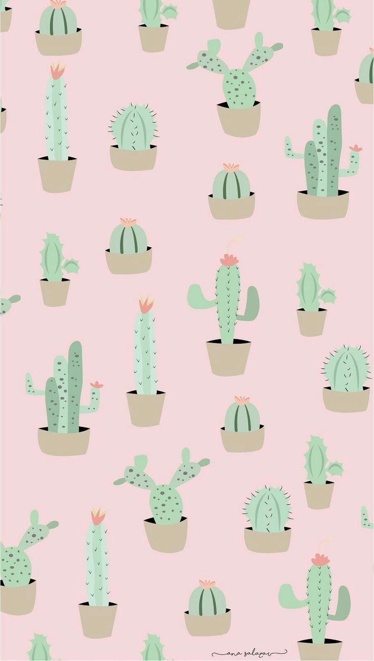 Iphone 7 Wallpaper Adorable Cactus Wallpaper Wallpaper Iphone Cute Cactus Backgrounds Cute Wallpapers