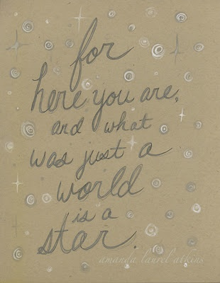 """a line from west side story's """"tonight""""  c Amanda Laurel Atkins 2012"""