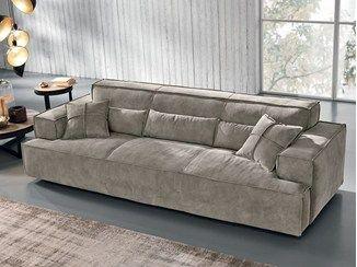 Sofá em nubuck OPLA' - Max Divani