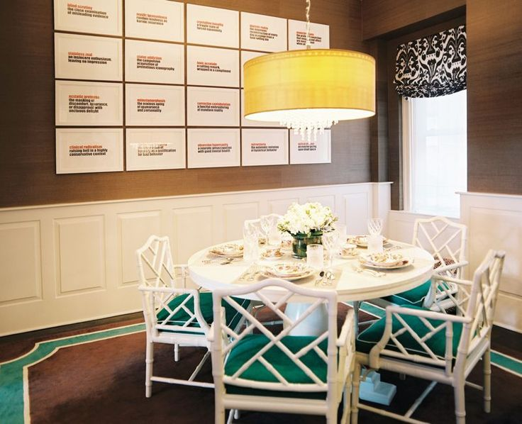 Faux Bamboo Dining Chairs   Interior Design By Pereira Associates