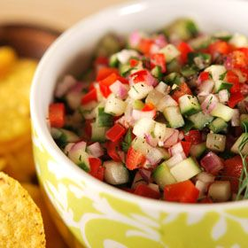 Garden Salsa, a recipe from the ATCO Blue Flame Kitchen.