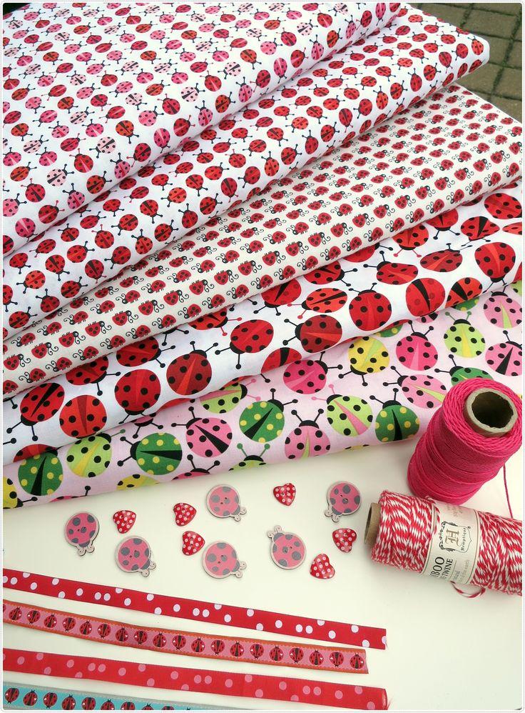 #ladybugs ! :) #textile #fabrics #bugs #forgirls #buttons #tapes  #craft #handmade #diy #craftoholicshop
