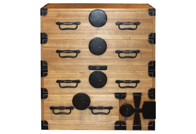1850s Japanese Clothing Chest