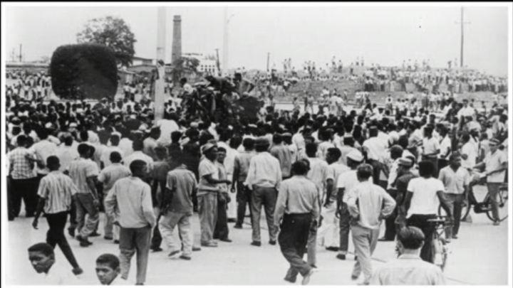 Rebels at the Duarte bridge