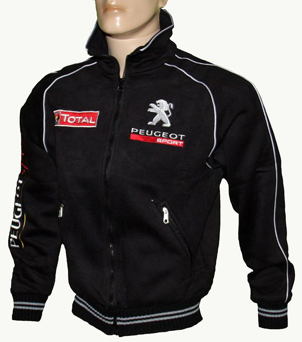 Peugeot sport veste polaire pour homme Rally blouson avec des logos brodés parka