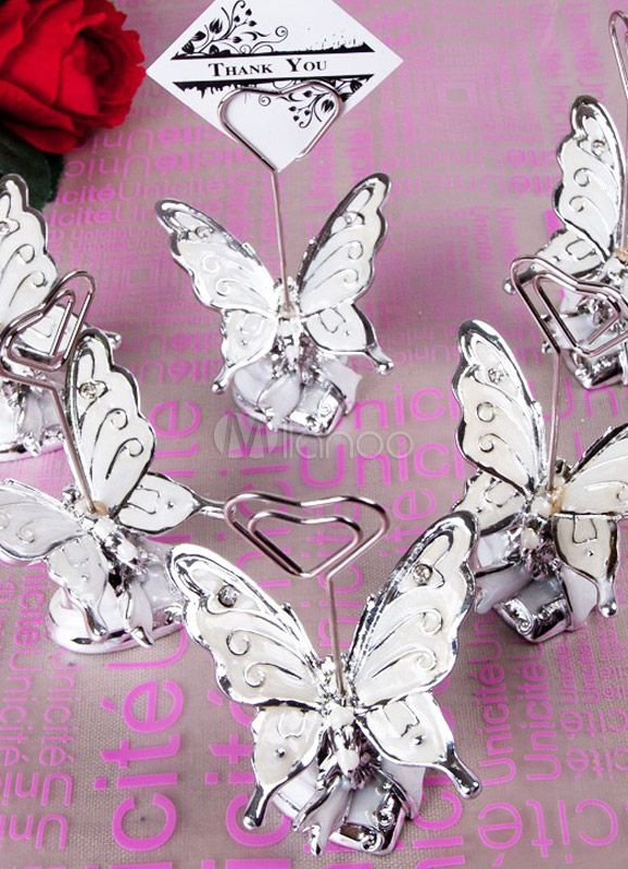 4piece butterfly place card holder for wedding
