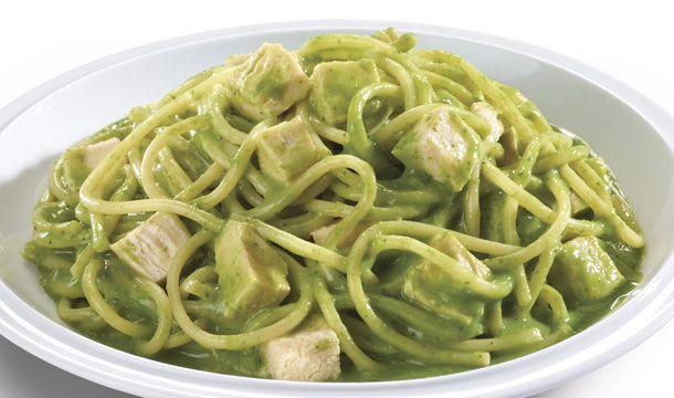 Spaghetti-con-salsa-de-espinacas