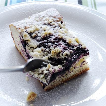 Borůvkový koláč s mandlovou drobenkou - musím vyzkoušet!