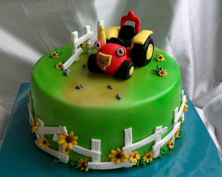 tractor tom cake, but would do buttercream grass