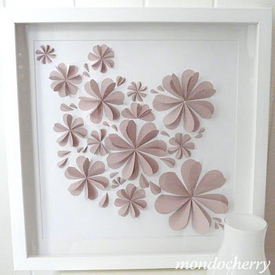 Made from hand-cut paper hearts