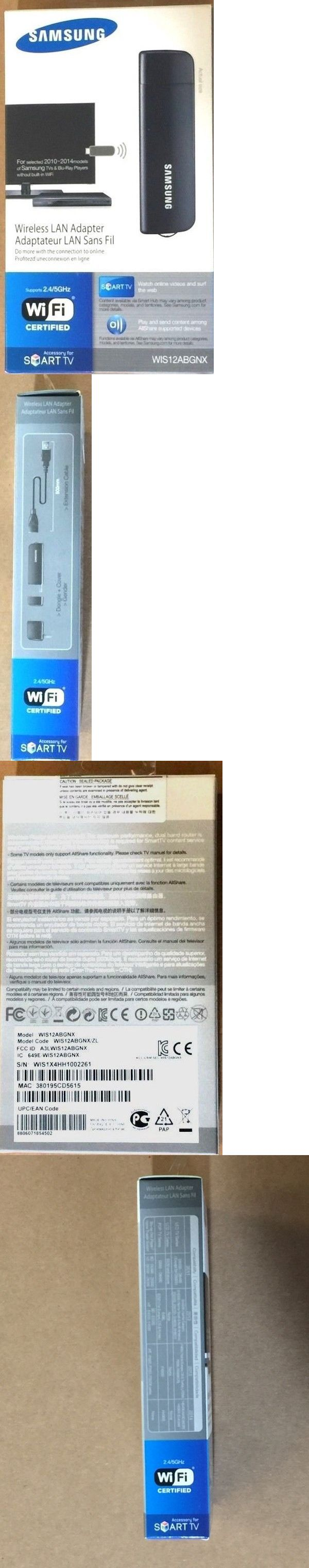 Audio Video Transmitters: Samsung Wis12abgnx Wireless Lan Adapter For Samung Tvs 2010-2014 Select Models BUY IT NOW ONLY: $38.0