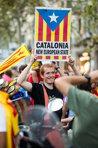 2012 Catalan Independence Demonstration, Barcelona, Catalonia,