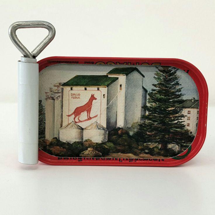 Susie Marwick Sardine Tin Miniature paintings Dingo Flour Mill