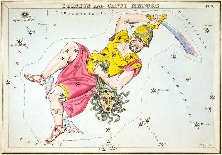 En la constelación Perseo, Argol representa el ojo de la gorgona Medusa.