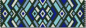 - Схемы для бисероплетения / Free bead patterns -: Схемы браслетов - мозаичное плетение 7
