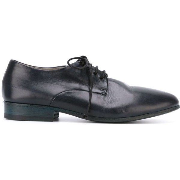 Marsèll Stacked Heel Derby Shoes ($672) ❤ liked on Polyvore featuring men's fashion, men's shoes, marsell mens shoes and mens derby shoes
