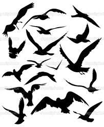 flying bird silhouette - Google Search