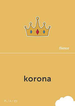 Korona #CardFly #flience #history #kingdom #polish #education #flashcard #language