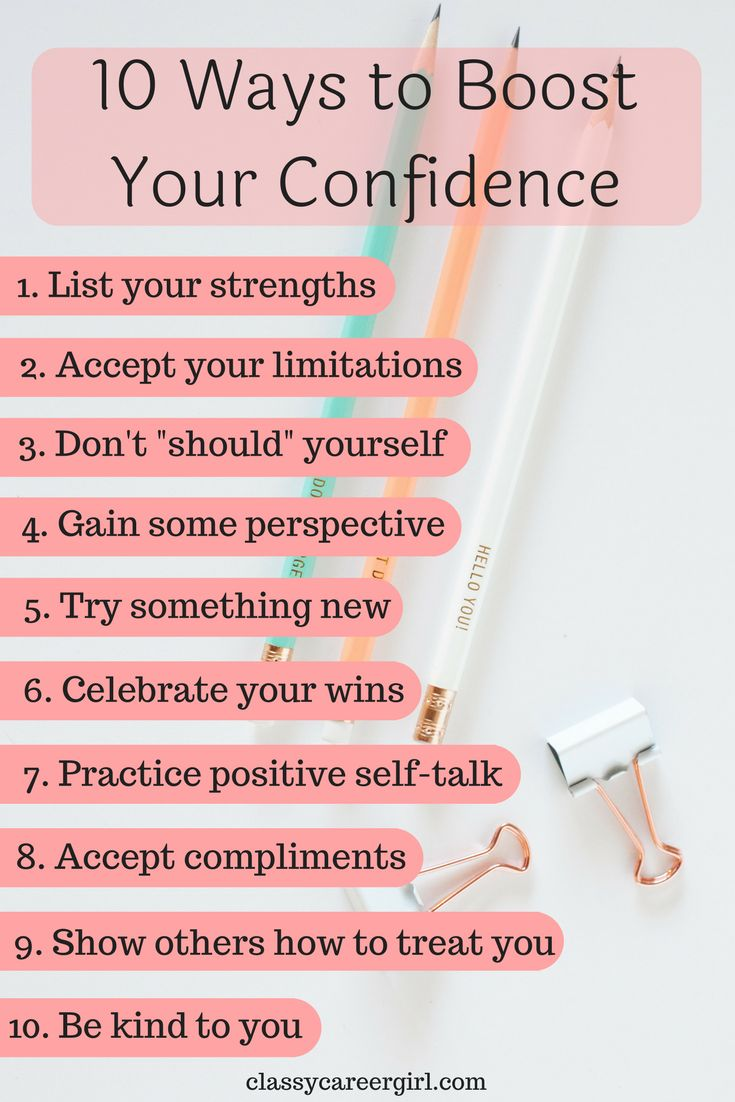 Confidence builds the foundation for you to set boundaries, take risks, try new things, and stand up for yourself, and when you have confidence, life is more enjoyable (happiness)
