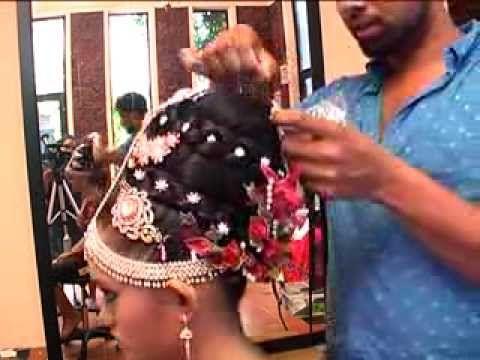 Indian bridal hair style by Jude Gayan's bridal &  hair inspiration