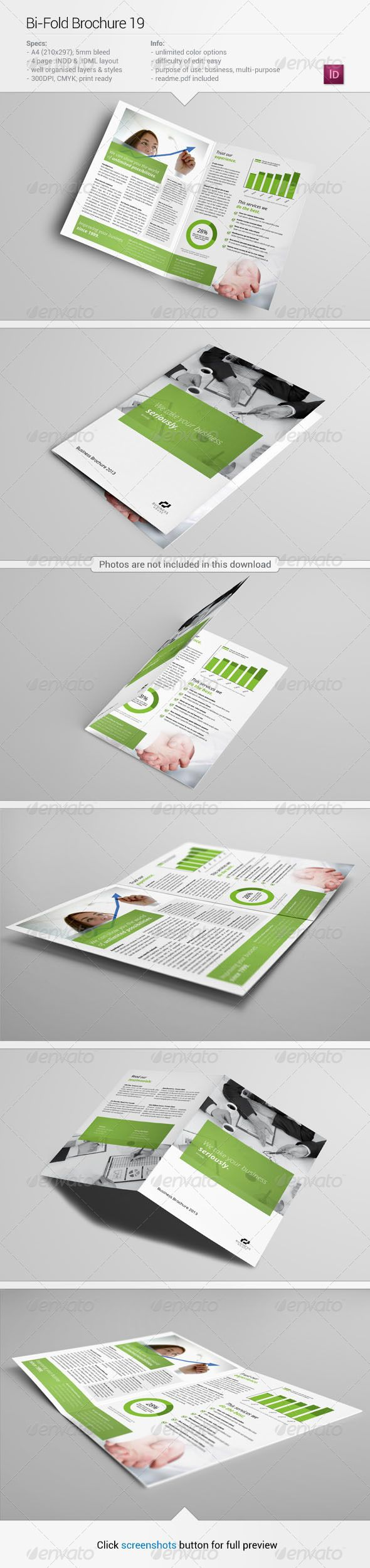 BiFold Brochure 19 — InDesign INDD #stock #pamphlet • Available here → https://graphicriver.net/item/bifold-brochure-19/5672916?ref=pxcr