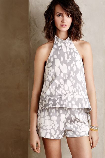 Orsa Swing Top Romper - anthropologie.com