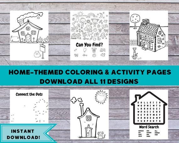 Real Estate Coloring Pages Download 11 Designs Home Themed Etsy Coloring Pages Business For Kids Personalized Coloring Book