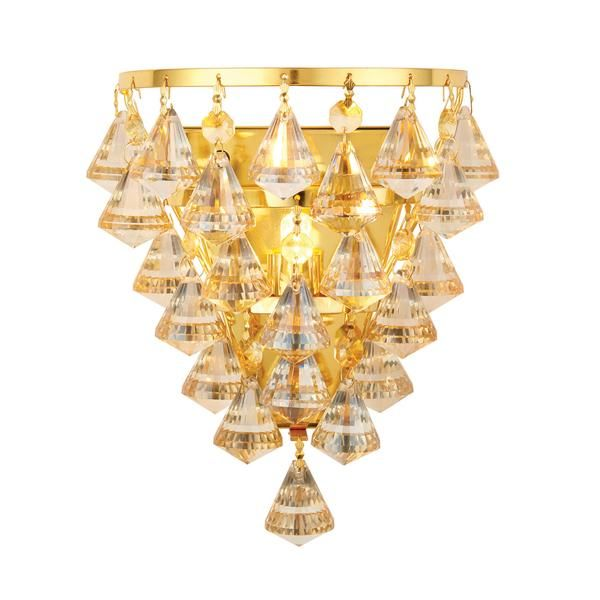 Egypt Inspired...This 1 light crystal ceiling fitting features a gold effect back-plate from which hangs champagne crystal drops. suitable for use with LED lamps. Matching items available  Finish: Champagne Crystal (K9) Drops & Gold Effect Plate Material: Glass & Steel Dimensions: 100mm projection x 200mm height x 170mm width Voltage: 220-240V Bulb Details: 33W G9 clear capsule Bulb Included: No Dimmable: Dimmable