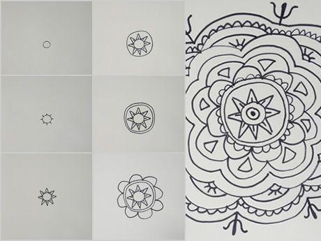 Como crear un mandala paso a paso