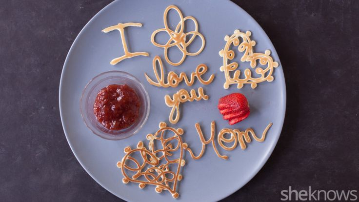 Remind your kids how much you love them with these adorable pancakes