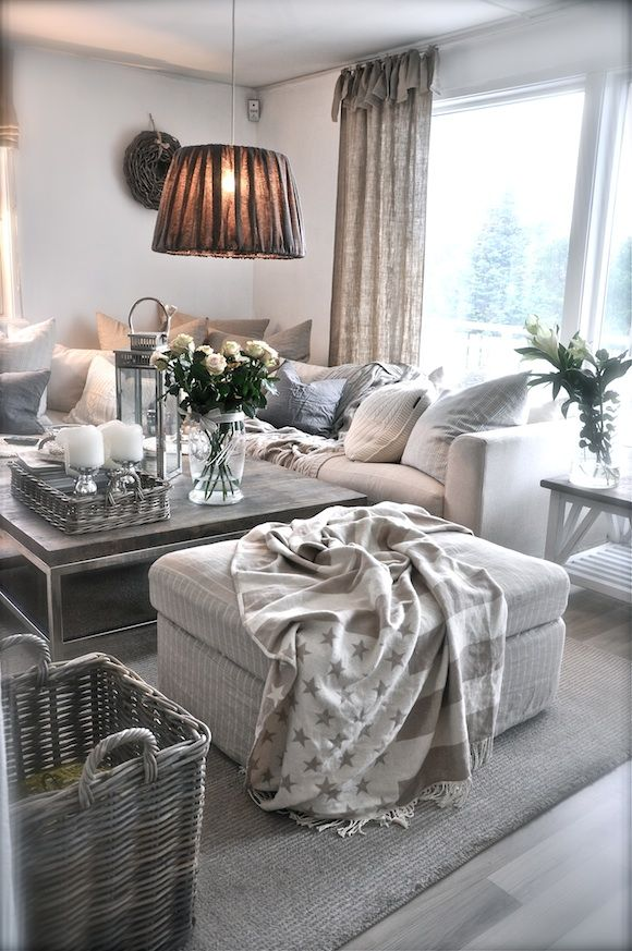 Grey & White Living Room