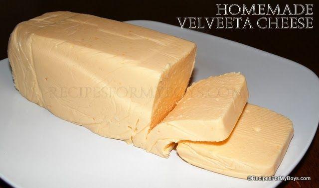 Homemade Velveeta Cheese RecipesForMyBoys.com