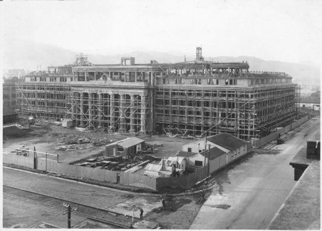 Wellington Railway Station under construction