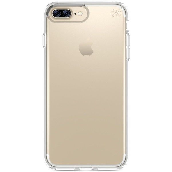 Speck Presidio Clear iPhone 7 Plus Case found on Polyvore featuring accessories, tech accessories and clear
