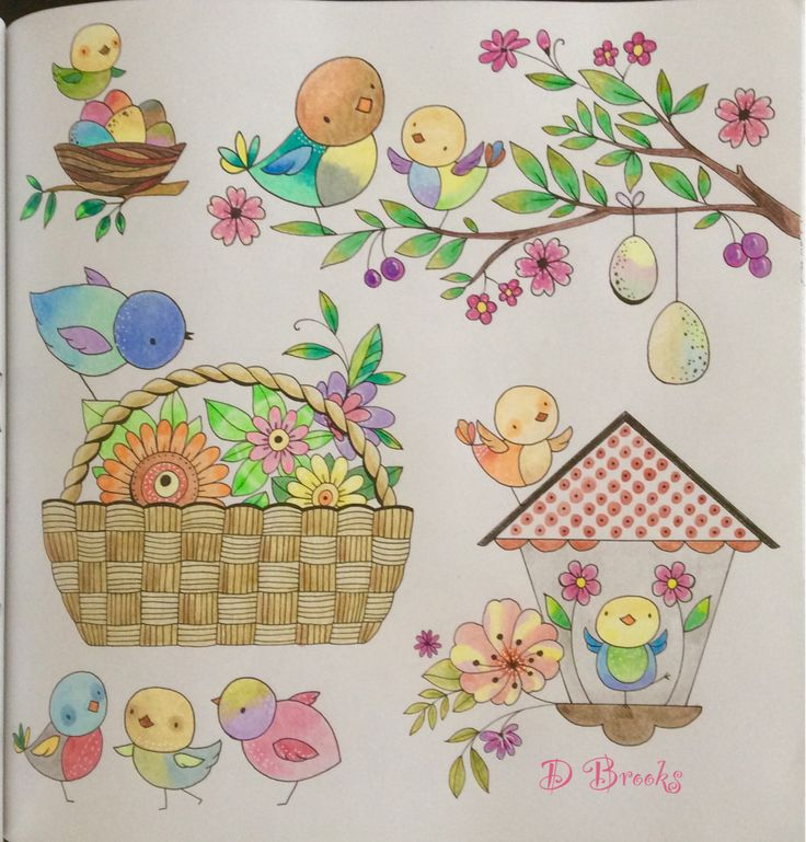 Little Birds From Bold Springtime To Colour By Eleri Fowler