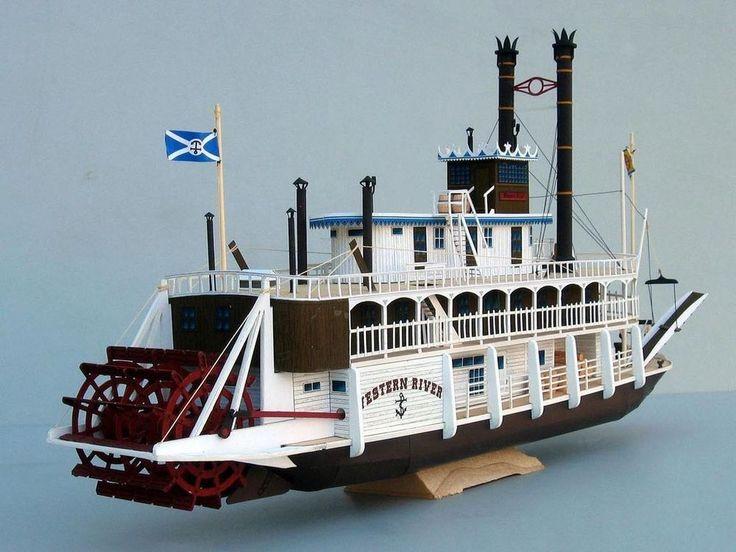 1:100 US Western River Mississippi Paddle Steamboat Handcraft Paper Model Kit #Unbranded   Paper ...