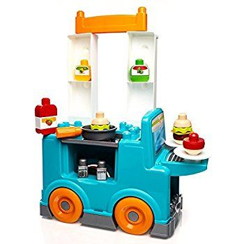 Amazon.com: Mega Bloks First Builders Food Truck Kitchen Building Set: Toys & Games