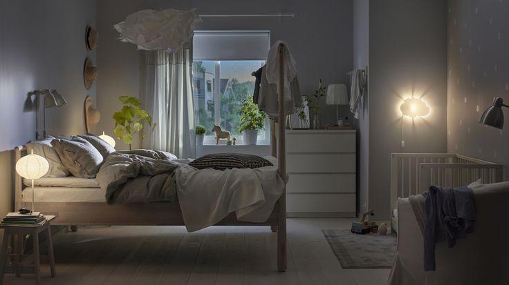 GJÖRA bedframe | IKEA IKEAnl IKEAnederland bed slaapkamer slapen berken hout inspiratie wooninspiratie interieur wooninterieur MALM ladekast GULLIVER babybedje