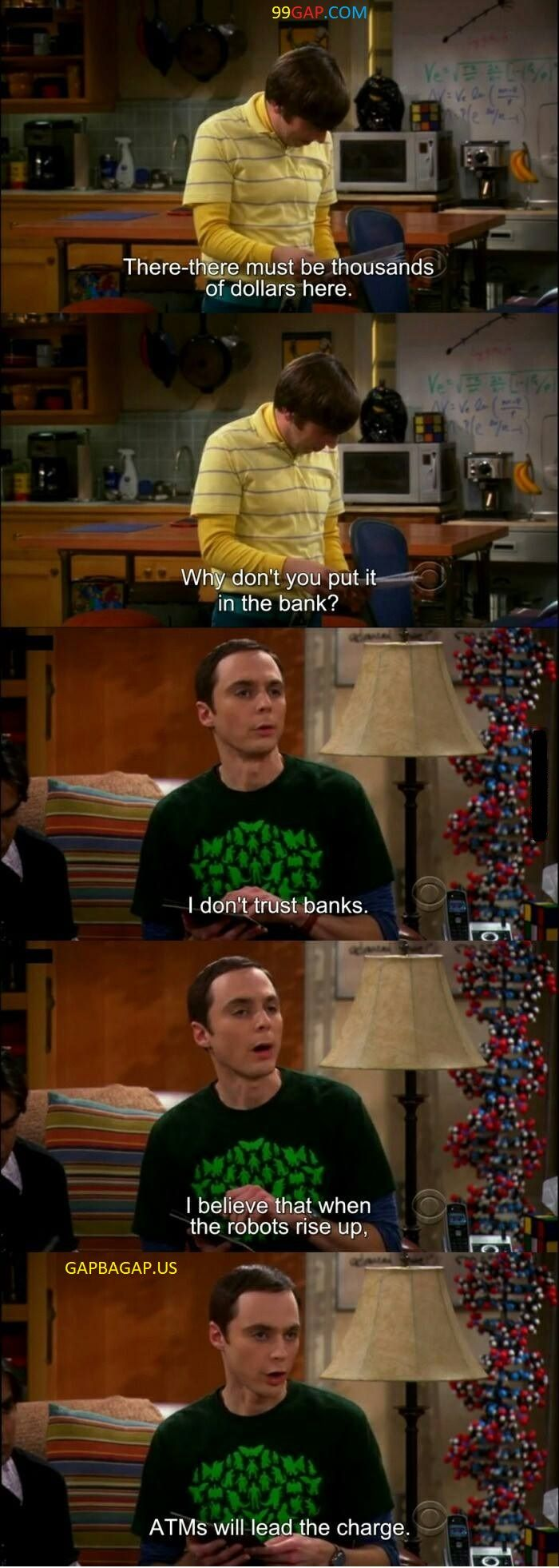 Funniest Jokes About Banks vs. Robots ft. The Big Bang Theory