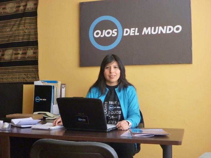 Patricia Tárraga, coordinadora del programa Ojos de Bolivia [Junio 2012]