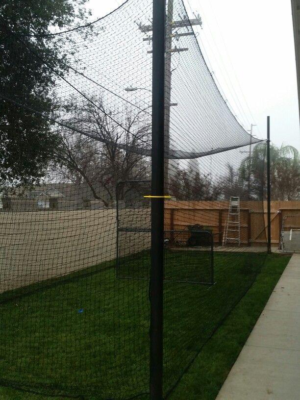 Backyard batting cage, #networld #BackyardBaseball - Backyard Batting Cage, #networld #BackyardBaseball Baseball