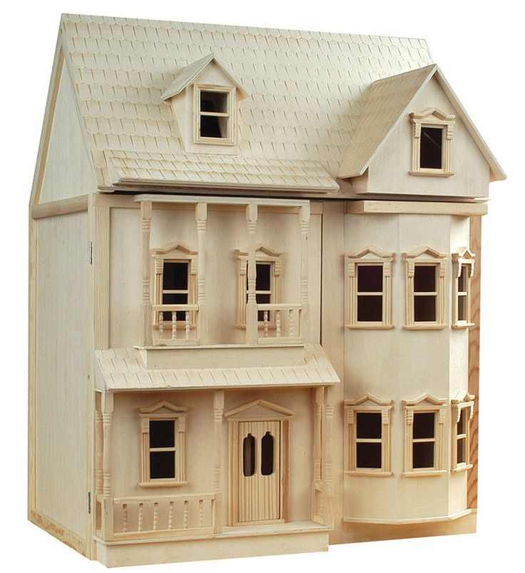 Gorgeous victorian 1 12th scale ashburton dolls house for Victorian style kit homes