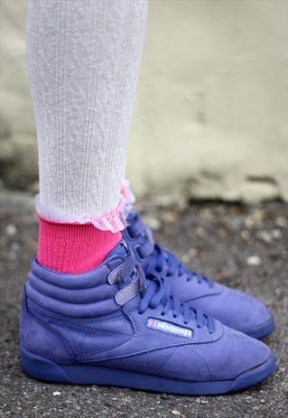 #REEBOKCLASSIC Hi-Top Purple Trainers Size 5 / 38 #asosmarketplace