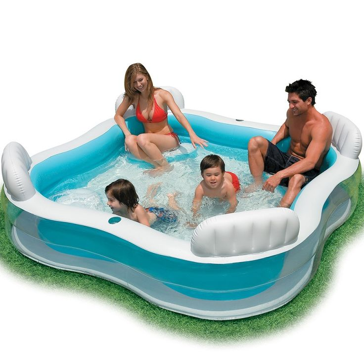 INTEX Inflatable Swimming Pool backrest with seat family swimming pool inflatable pool square Summer baby swimming pool 56475-in Pool & Accessories from Sports & Entertainment on Aliexpress.com | Alibaba Group