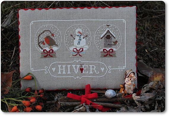 Cross Stitch Pattern Hiver di MadameChantillyxxx su Etsy, €9.00